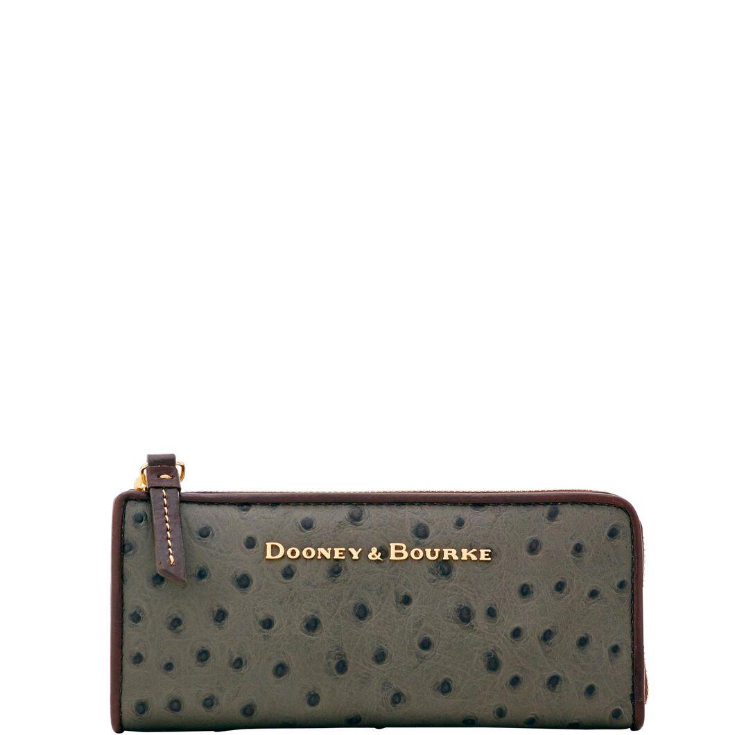 dooney u0026 bourke ostrich zip clutch