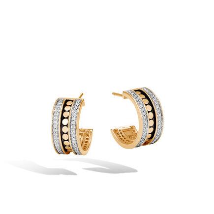Dot Small Hoop Earring in 18K Gold