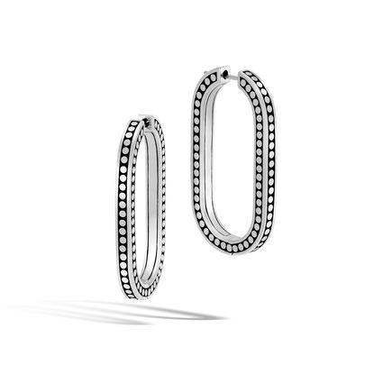 Dot Large Hoop Earring in Silver