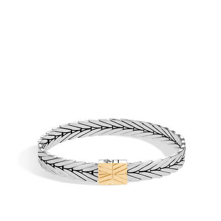 Modern Chain 8MM Bracelet in Silver and 18K Gold