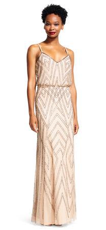 Diamond Beaded Blouson Dress