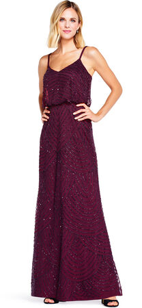 Art Deco Beaded Blouson Gown