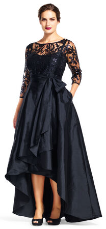 Sequin and Taffeta High Low Gown