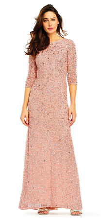 Scoop Back Sequin Gown