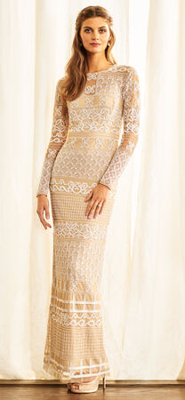Long Sleeve Bohemian Embroidered Dress with Sheer Details