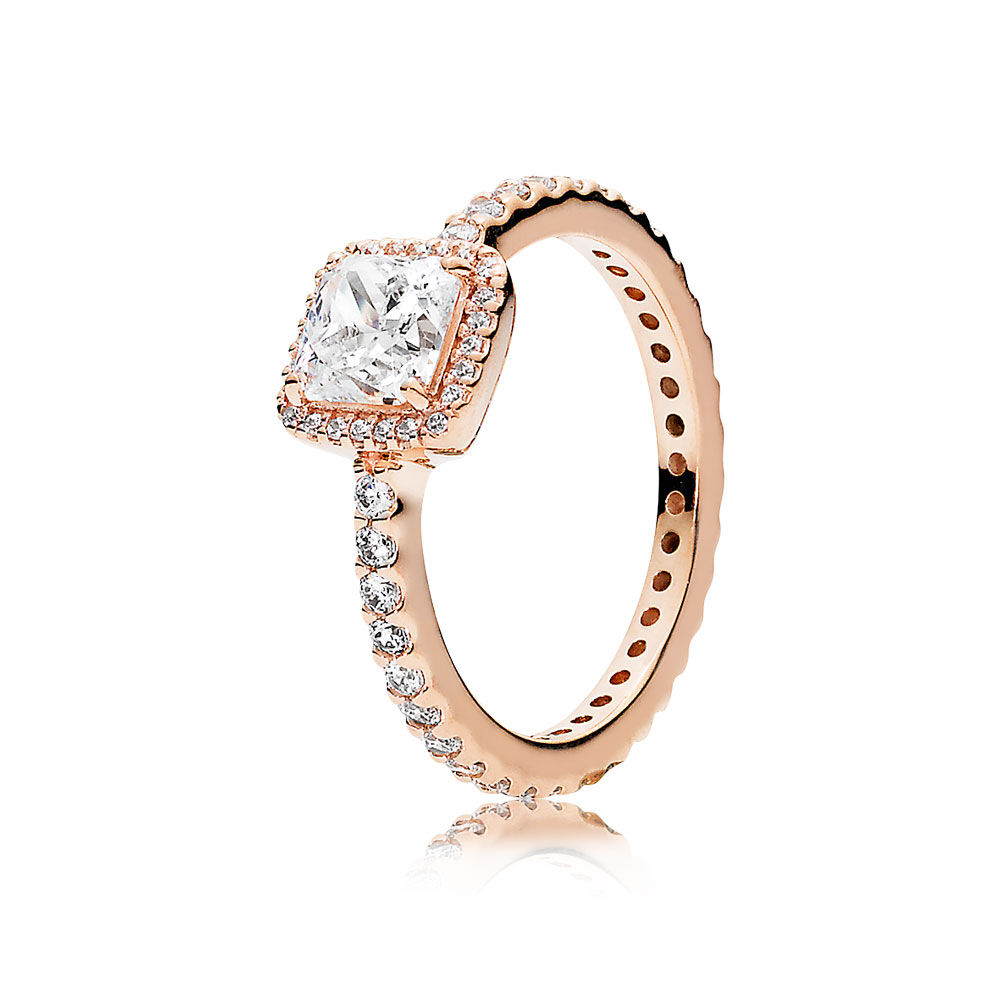 Timeless Elegance Ring PANDORA Rose™ & Clear CZ