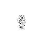 Space In My Heart Spacer, Clear CZ