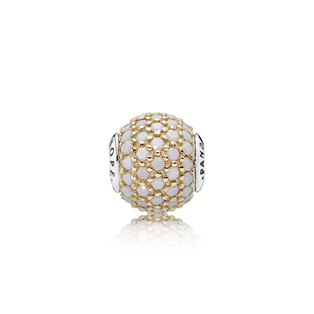 HOPE, 14K Gold & Opaque White Crystal