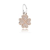 Symbol Of Lucky In Love, 14K Rose Gold & Clear CZ