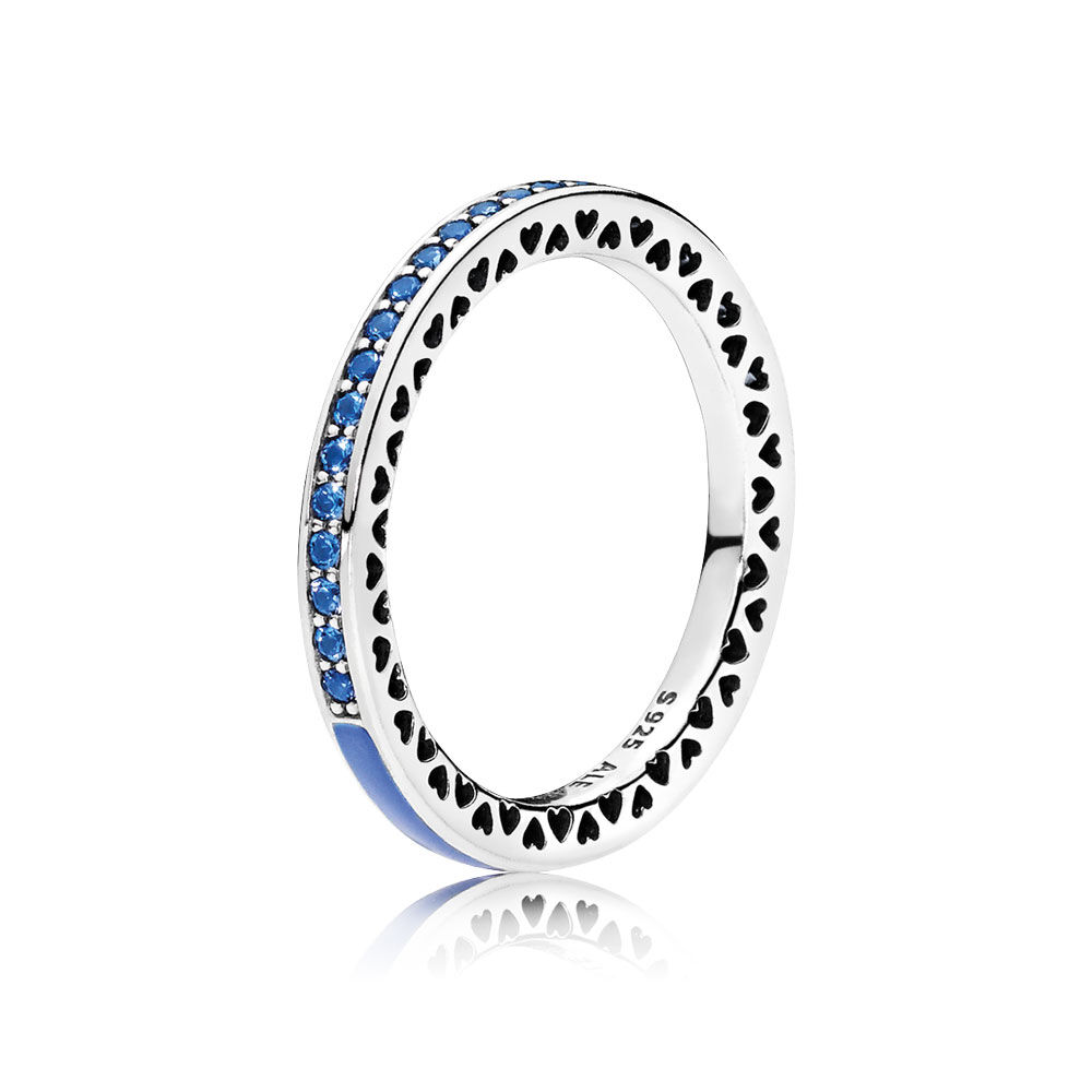 radiant hearts of pandora princess blue enamel royal blue