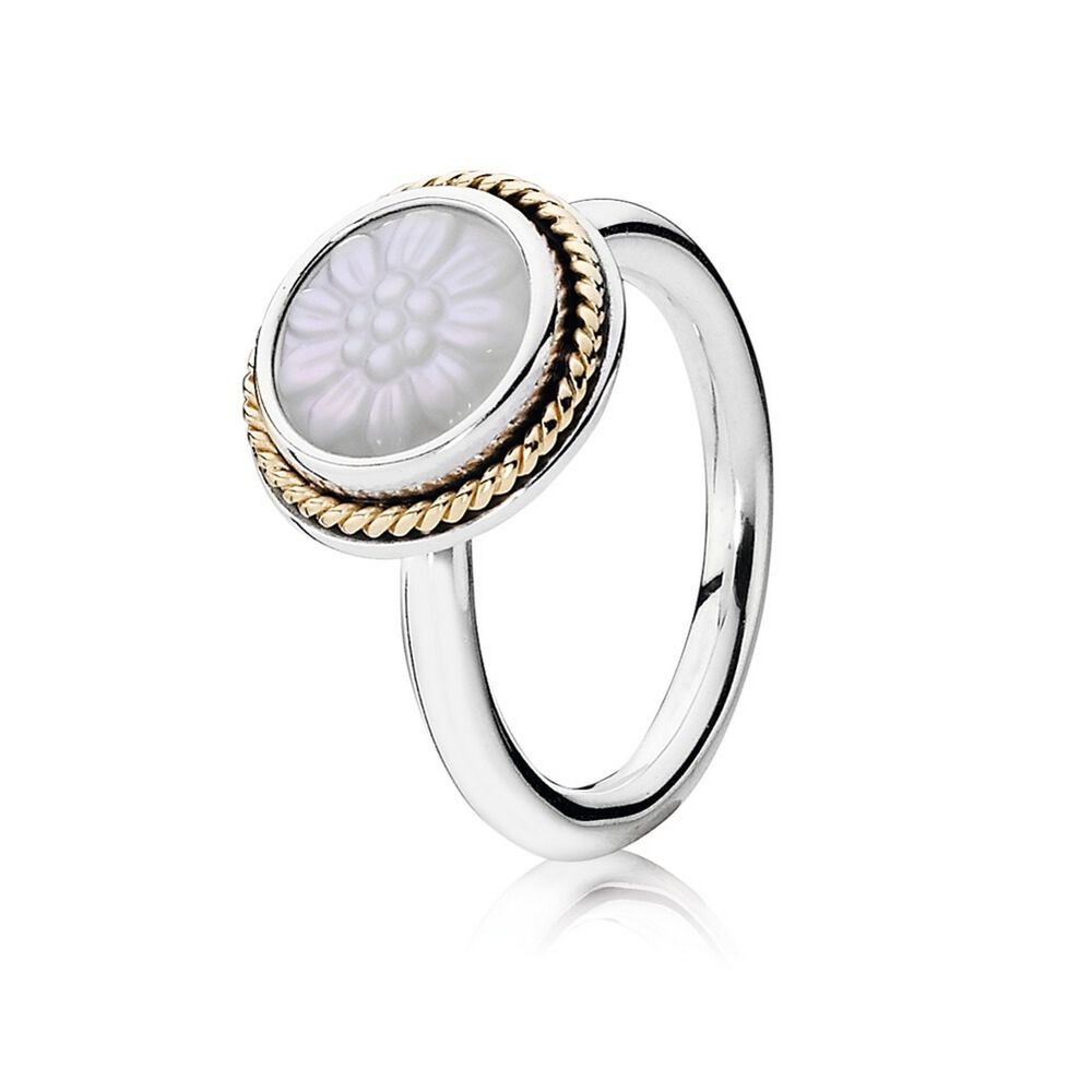 Mother Pearl Stackable Rings
