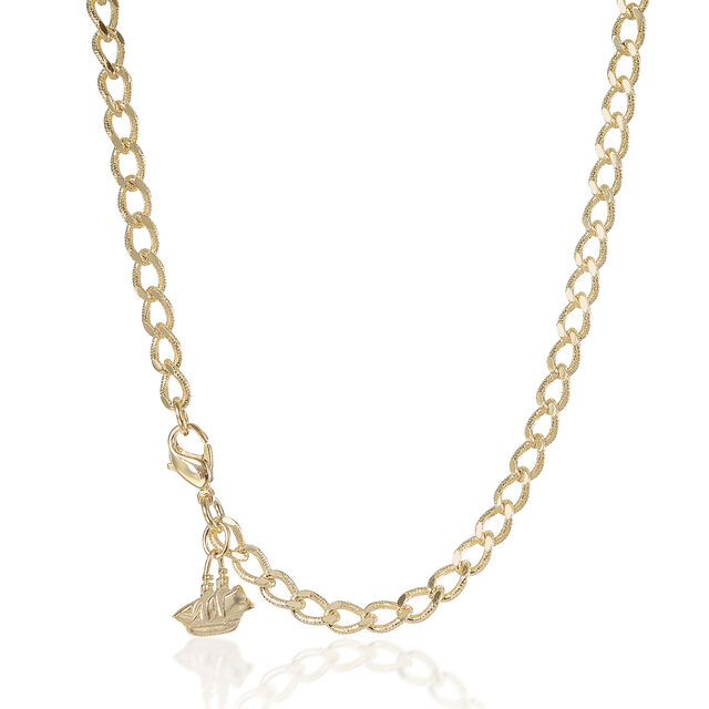 Curb Necklace 18K Gold Plated Providence, 18K Gold Plated, hi-res