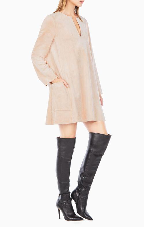 Beritt Faux-Suede Dress