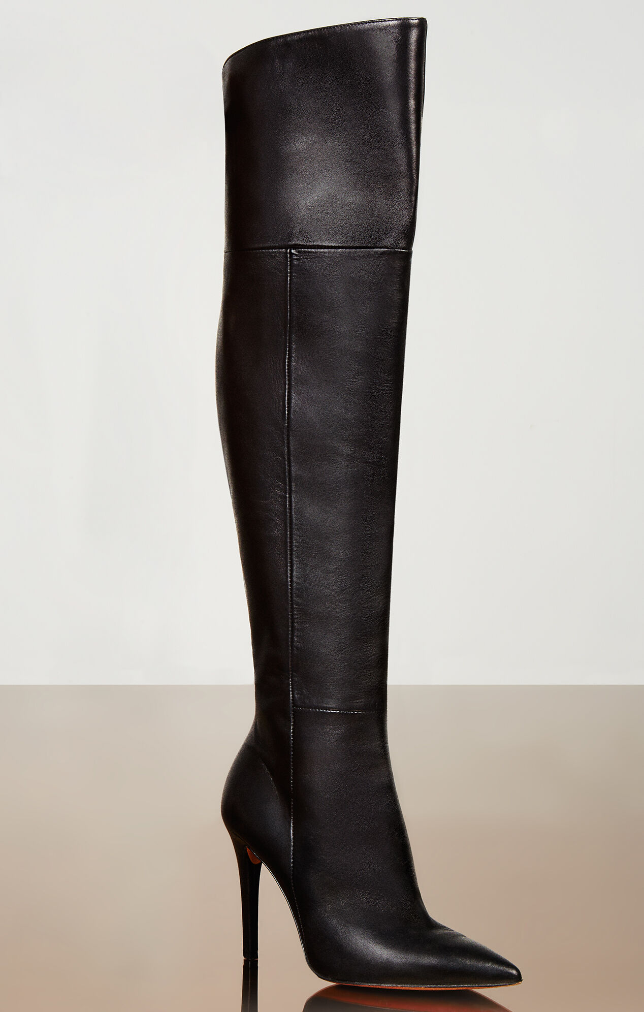 abella high heel the knee leather boots