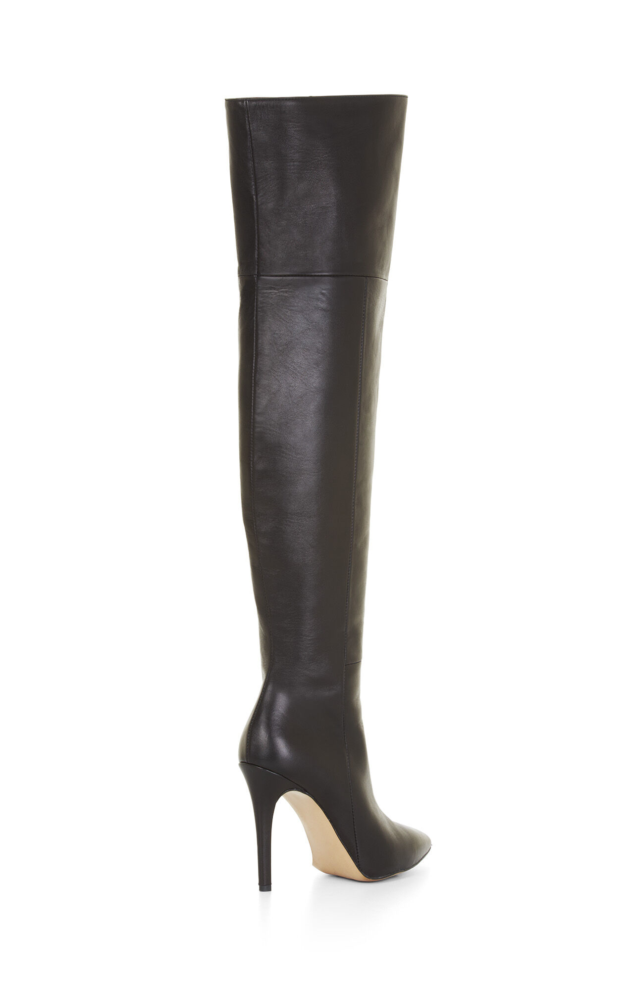 High-Heel Over-The-Knee Leather Boots