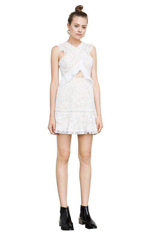 Careen Geometric Lace Dress