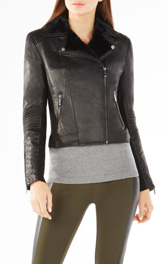 Charlie Zip-Front Leather Jacket