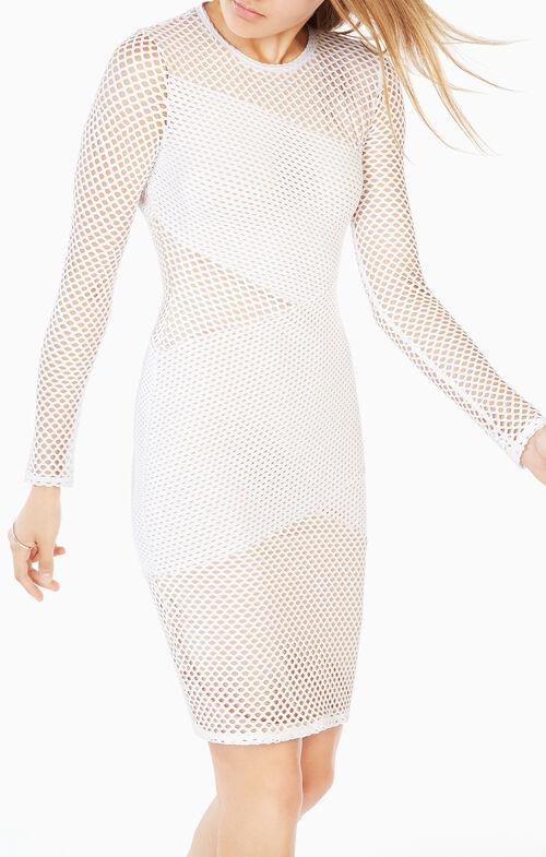 Jorden Mesh-Paneled Dress