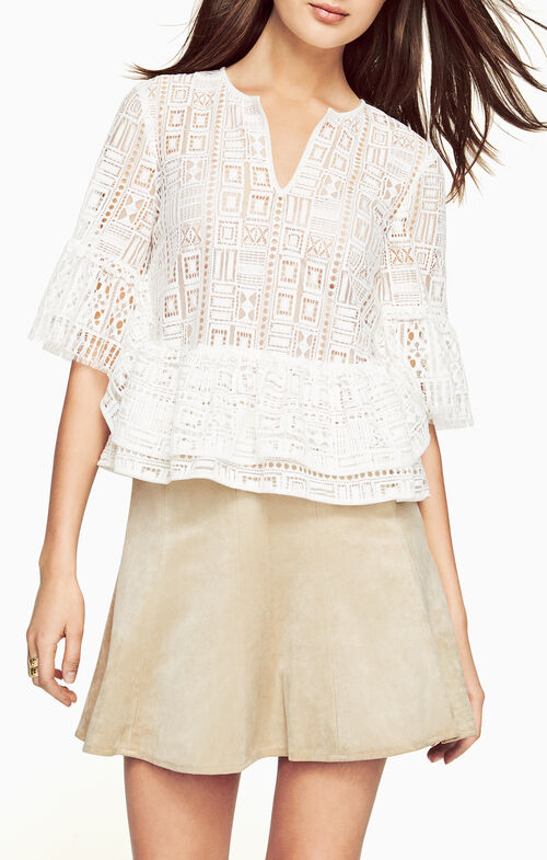 Immane Ruffled Lace Top