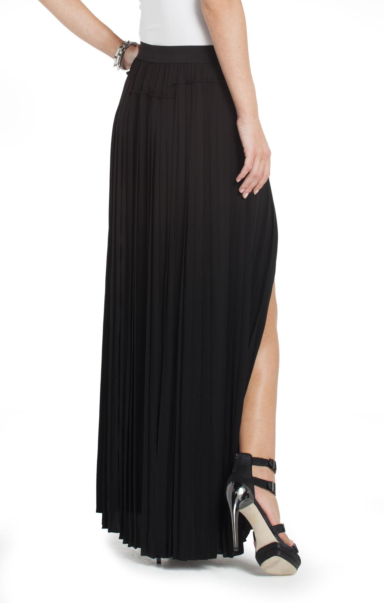 dillon pleated paneled maxi skirt bcbg
