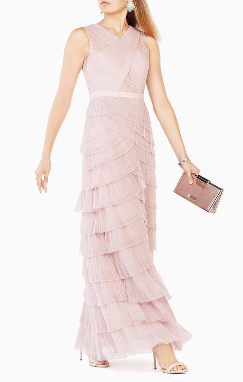 Adreanna Pleated Tulle Gown
