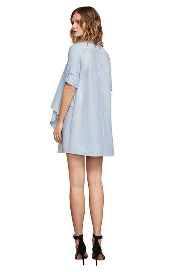 Alesha Striped Draped Shirt Dress