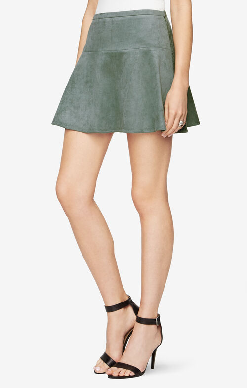 Lucy Faux-Suede Mini Skirt