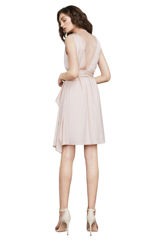 Cahya Ruffled Satin Dress