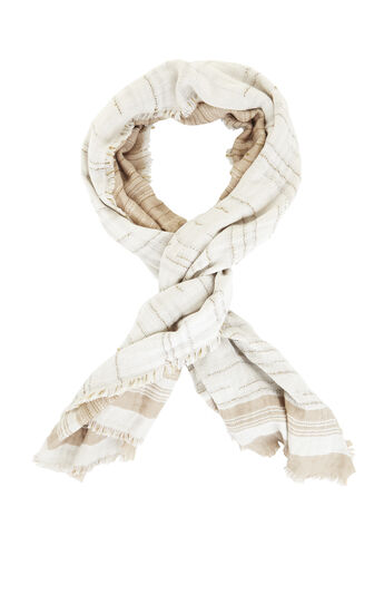 Distressed Striped Scarf