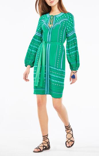 Rene Medallion Print Midi Dress