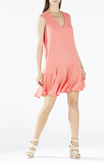 Clea A-Line Double Flounce Tank Dress