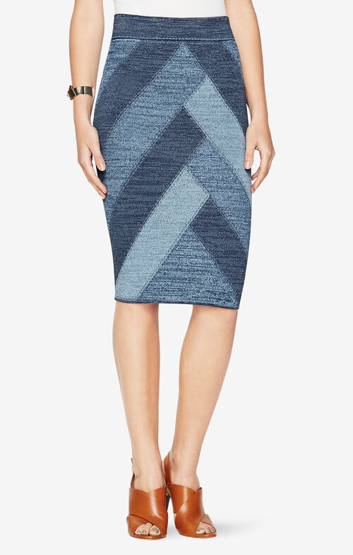 Patchwork Pencil Skirt