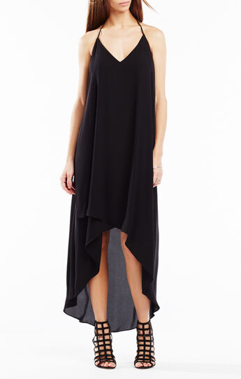 Cressida Lace-Trim High-Low Dress