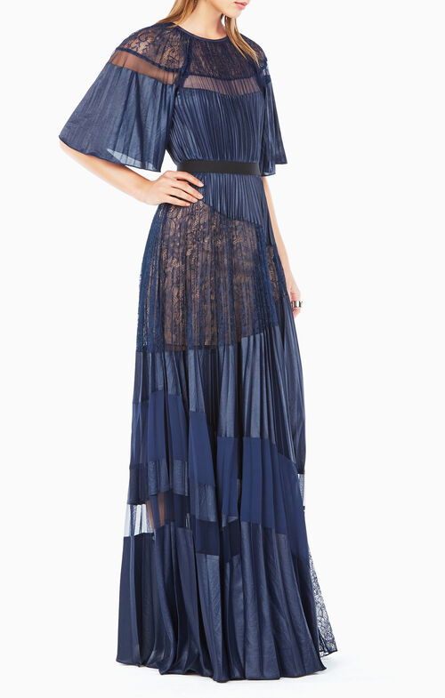 Aubrielle Pleated Gown