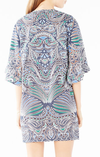 Tati Tribal Burnout Mesh Dress