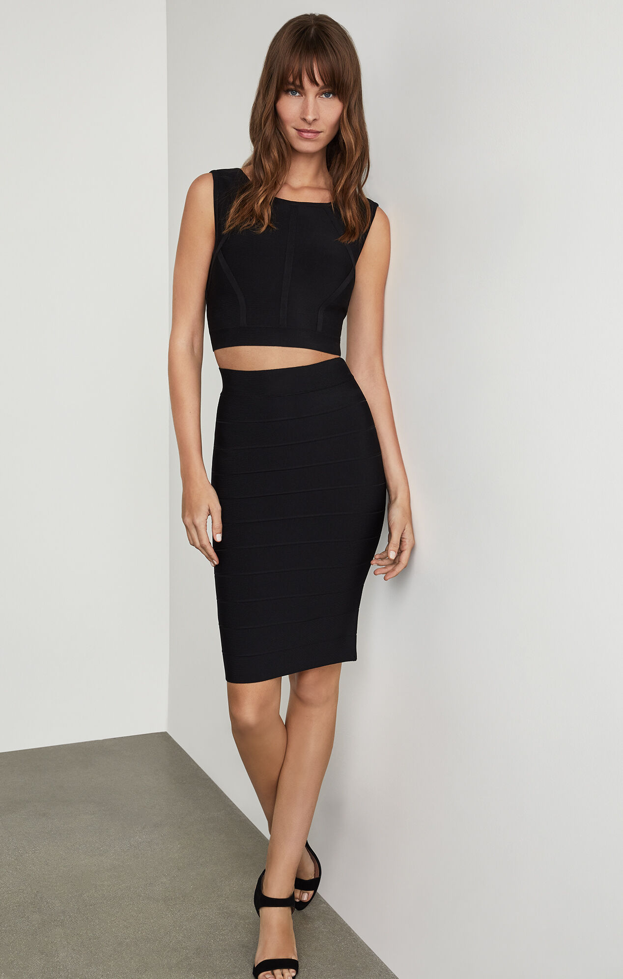 Black Sandals Pencil Skirt