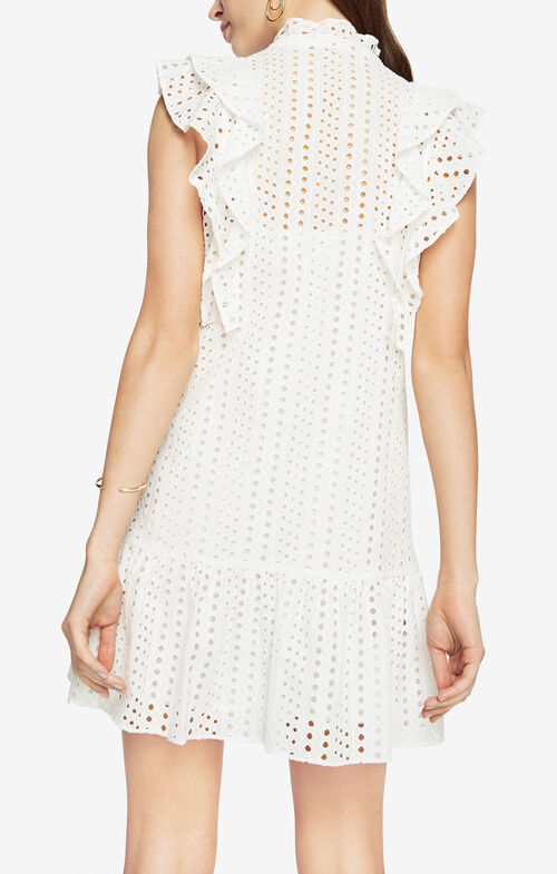 Alicia Ruffled Eyelet Dress