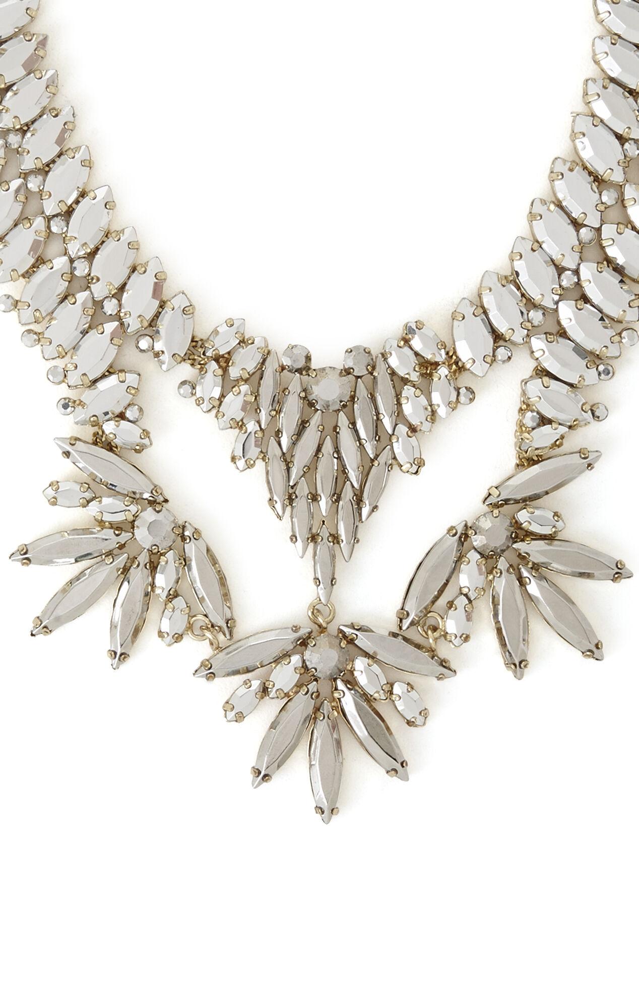 Metallic Stone Statement Necklace