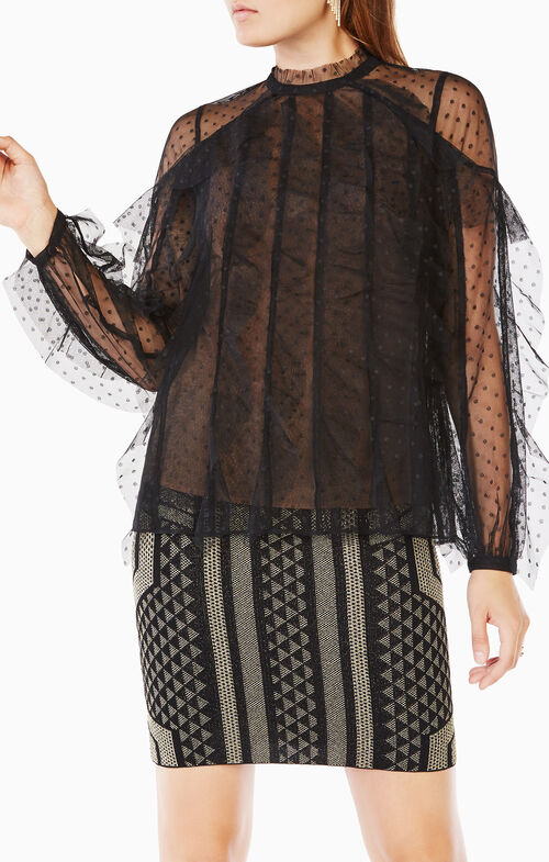 Leora Ruffled Lace Top