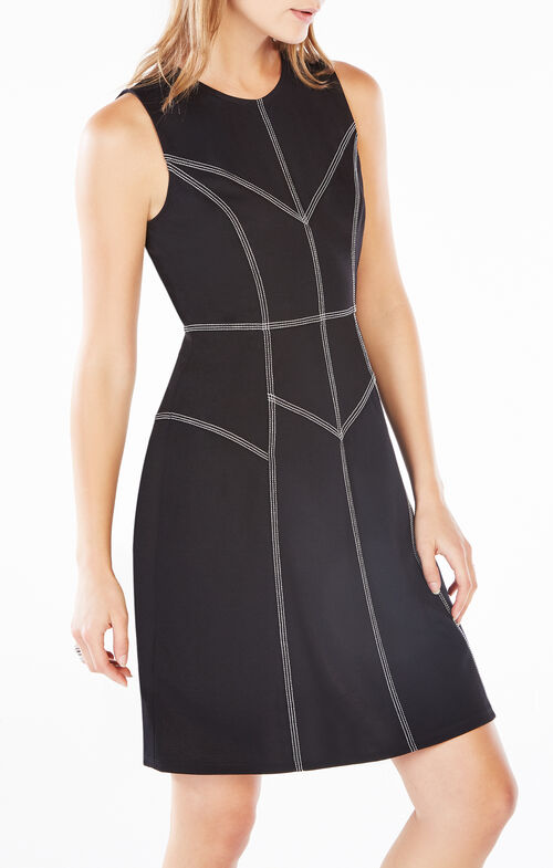 Katie Stitched Ponte Dress