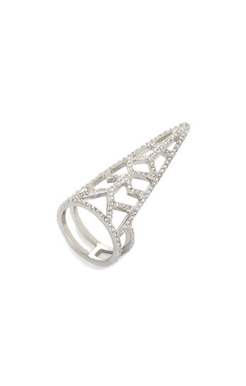 Pave Stone Cutout Ring