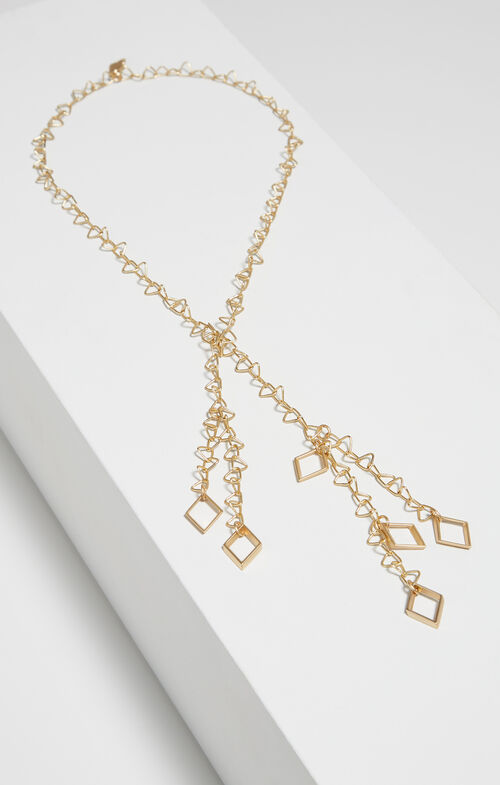 Triangle Chain Lariat Necklace