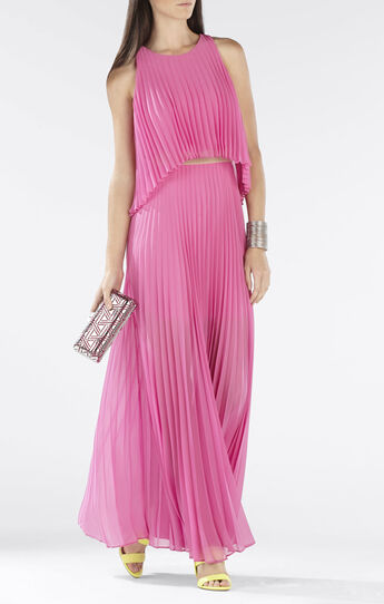 Shaina Sleeveless Pleated Gown