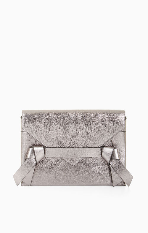 Nicoletta Metallic Leather Clutch