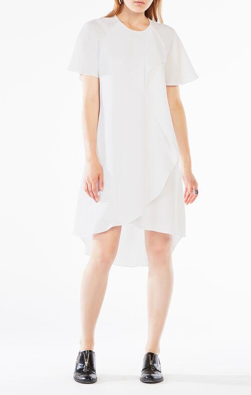 Perri Draped Ruffle Dress