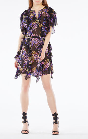 Filippa Floral Print Silk Kaftan Dress
