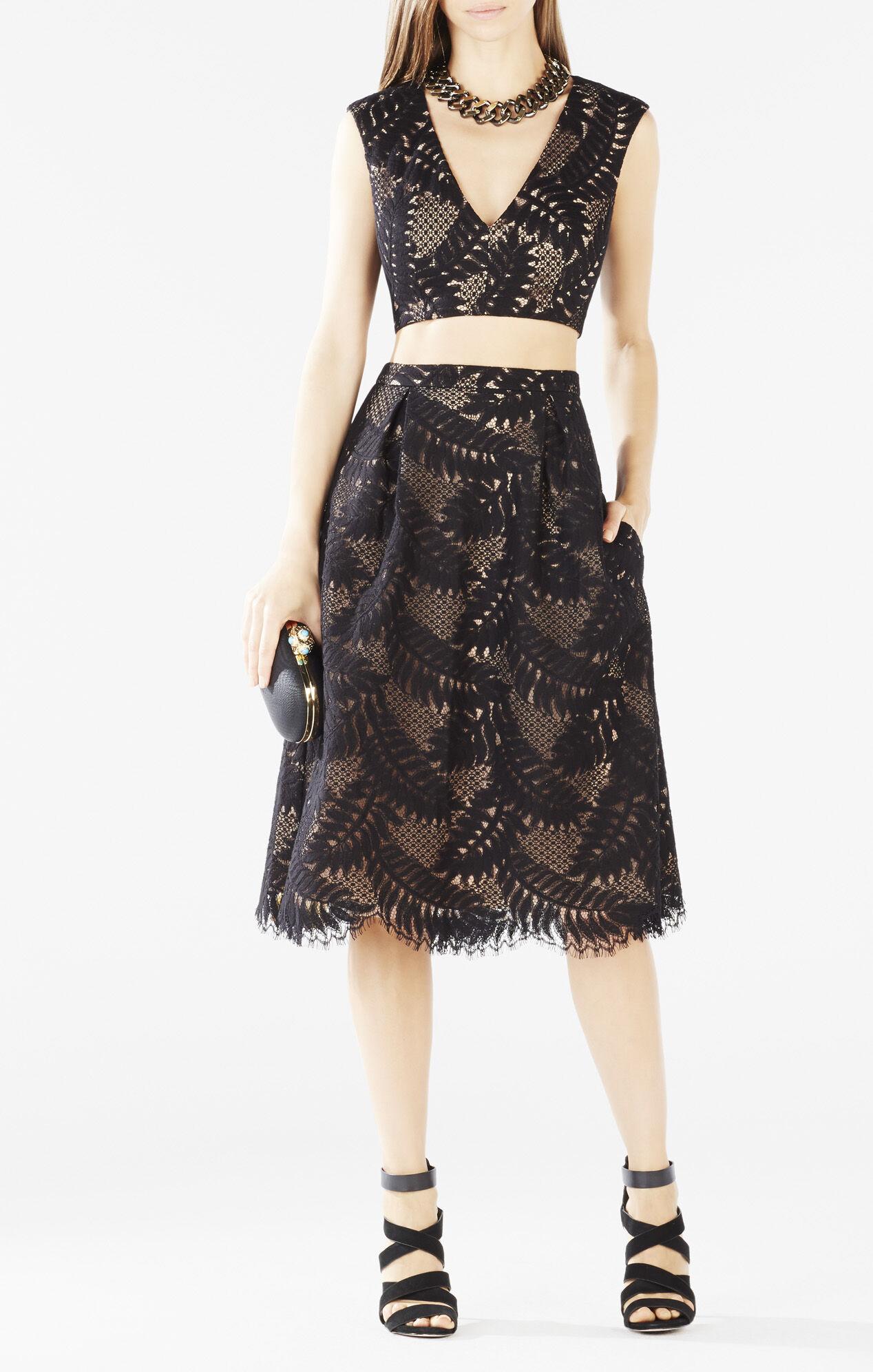 Bcbg dresses black lace