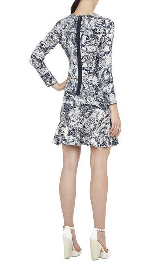 Leilani Peplum Jacquard Dress