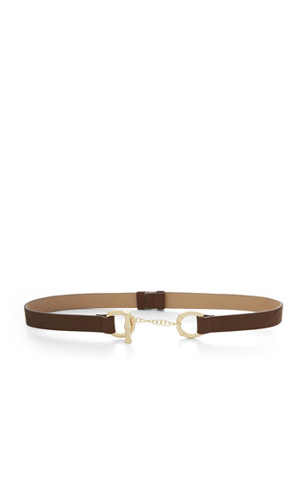 Bamboo Faux-Leather Toggle Belt