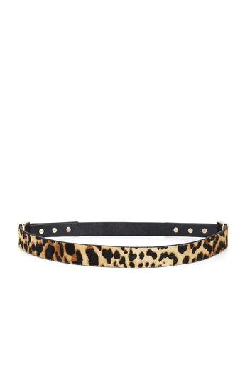 Cheetah Stud Fur Belt